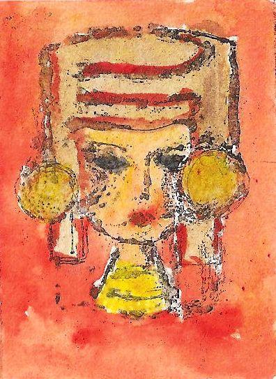 niña con tocado maya